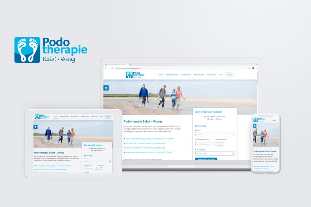 Wordpress website podotherapie Bakel en Venray